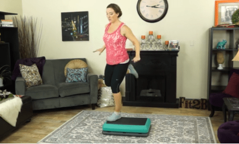 Step & Pivot Around The World routine from fit2b.com