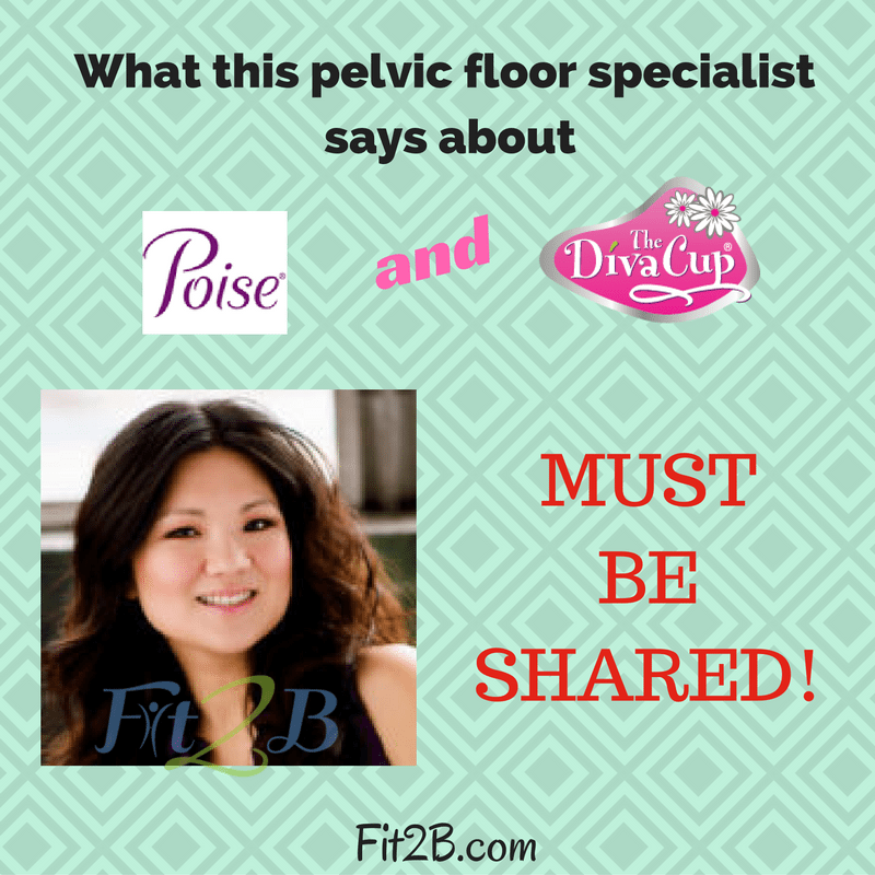 What this pelvic floor specialist says about Poise and Diva Cups must be shared! - Fit2B.com