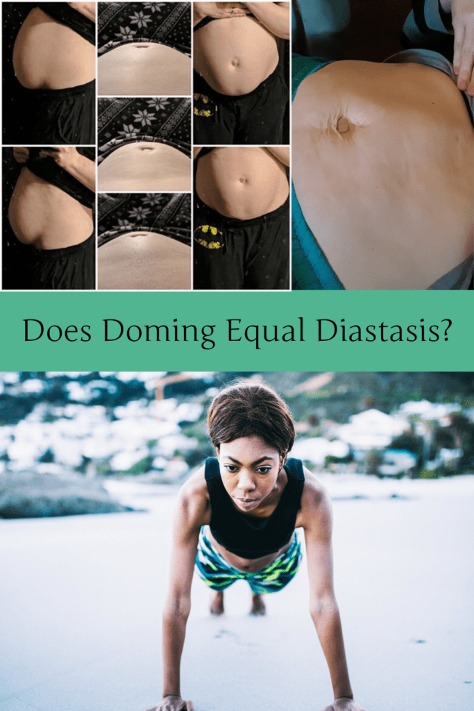 """Does Doming Equal Diastasis? - Fit2B.com - Fit2B knows core exercises have busy moms asking, """"Should I be worried that my belly is bulging?"""" and """"Does doming equal diastasis recti?"""" Click through and let us connect you to a free video and let us connect you with the answers and home exercises that you can trust will keep your core safe. #fit2b #diastasisrecti #workouts #exercises #fitness #homeexercises"""