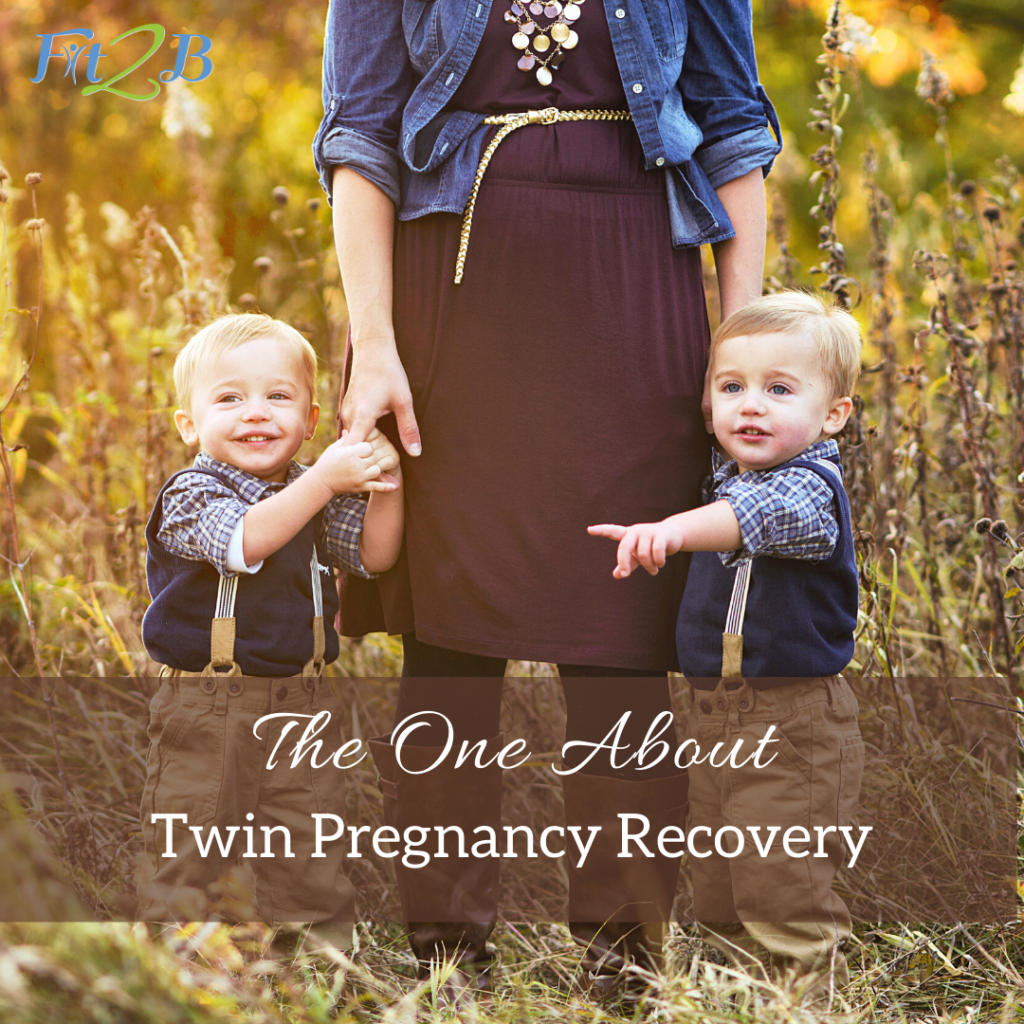 "The One About Twin Pregnancy Recovery - Fit2B.com - Fit2B knows women ask, ""What exercise can I do to have a strong pregnancy and birth?"" and ""What can I do to recover from my pregnancy?"" We think the answer lies in a combination of physical therapy and fitness motivation. Listen in as Fit2B interviews a physical therapist and cross-fit athlete who gave birth to twins. We discuss diastasis recti exercises, c section, nursing, lower back pain, and postpartum issues. #fit2b #fitnessmotivation #podcast #pregnancy #diastasisrectiexercises"