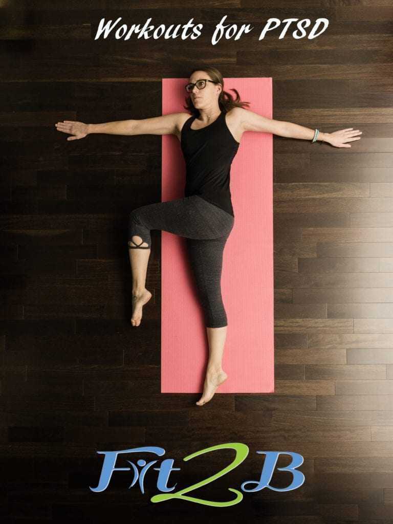 Workouts for PTSD, lady on yoga mat